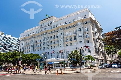 Fachada do Hotel Copacabana Palace  - Rio de Janeiro - Rio de Janeiro (RJ) - Brasil