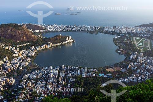 Vista da Lagoa Rodrigo de Freitas a partir do mirante do Cristo Redentor  - Rio de Janeiro - Rio de Janeiro (RJ) - Brasil