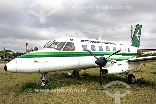 Avião Embraer EMB-110 - Bandeirante - fabricado pela Embraer em exibição no Memorial Aeroespacial Brasileiro (MAB)  - São José dos Campos - São Paulo (SP) - Brasil