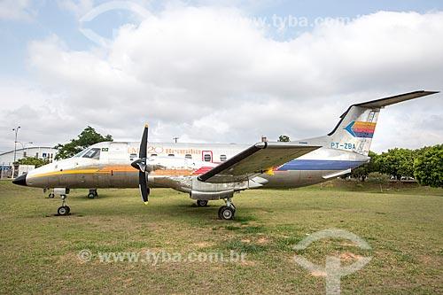 Avião Embraer EMB-120 - Brasília - fabricado pela Embraer em exibição no Memorial Aeroespacial Brasileiro (MAB)  - São José dos Campos - São Paulo (SP) - Brasil
