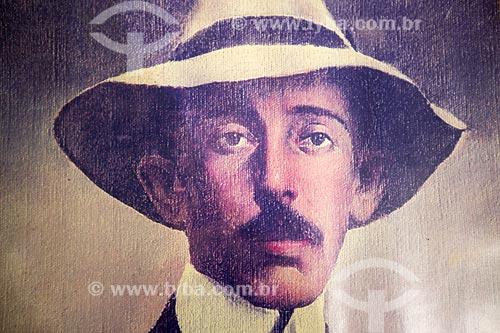 Pintura de Alberto Santos Dumont - Reprodução do acervo do Memorial Aeroespacial Brasileiro (MAB)  - São José dos Campos - São Paulo (SP) - Brasil