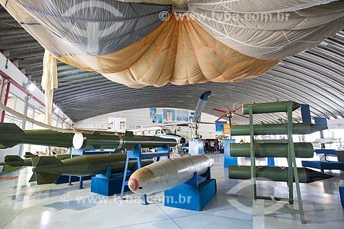 Setor de bombas em exibição no Memorial Aeroespacial Brasileiro (MAB)  - São José dos Campos - São Paulo (SP) - Brasil