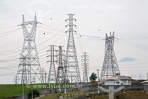 Vista de torres de transmissão  - São José dos Campos - São Paulo (SP) - Brasil