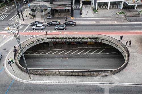 Vista do vão do Túnel José Roberto Fanganiello Melhem na Avenida Paulista  - São Paulo - São Paulo (SP) - Brasil