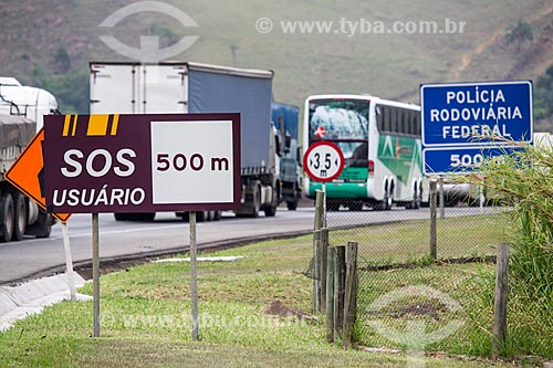 Engarrafamento na Rodovia Presidente Dutra (BR-116)  - Lavrinhas - São Paulo (SP) - Brasil