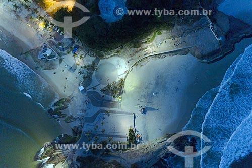 Foto aérea do Arpoador e da Praia do Diabo - Visão Vertical  - Rio de Janeiro - Rio de Janeiro (RJ) - Brasil