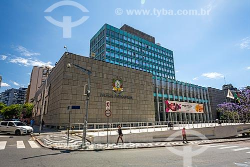Fachada do Palácio Farroupilha (1967) - sede da Assembléia Legislativa do Estado do Rio Grande do Sul  - Porto Alegre - Rio Grande do Sul (RS) - Brasil