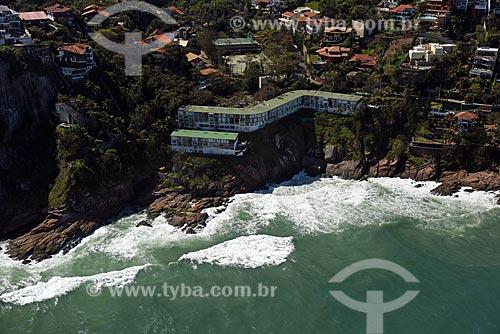 Praia da Joatinga na maré alta  - Rio de Janeiro - Rio de Janeiro (RJ) - Brasil