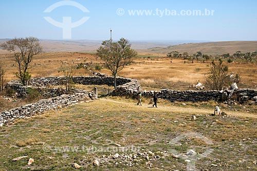 Curral de pedra construído pelos escravos para confinar gado - Parque Nacional da Serra da Canastra   - São Roque de Minas - Minas Gerais (MG) - Brasil
