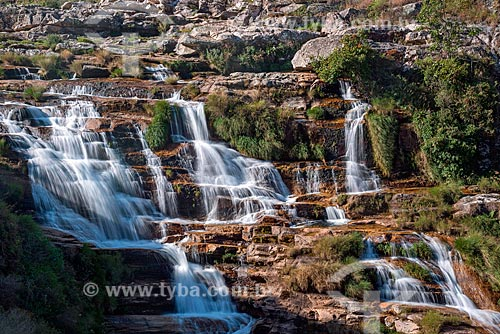 Cachoeira no Rio São Francisco na parte alta da Serra da Canastra  - São Roque de Minas - Minas Gerais (MG) - Brasil