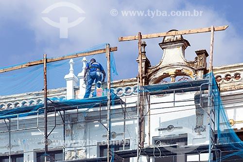 Restauração da fachada do Hotel Príncipe na Praça da Estação  - Juiz de Fora - Minas Gerais (MG) - Brasil