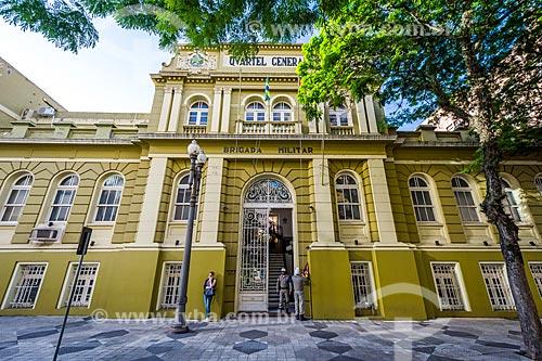 Fachada do batalhão da Brigada Militar do Rio Grande do Sul (BMRS)  - Porto Alegre - Rio Grande do Sul (RS) - Brasil
