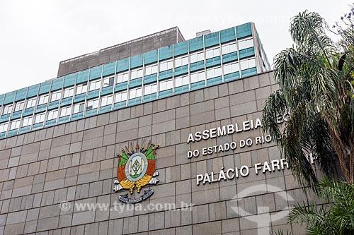 Fachada do Palácio Farroupilha (1967) - sede da Assembleia Legislativa do Estado do Rio Grande do Sul  - Porto Alegre - Rio Grande do Sul (RS) - Brasil