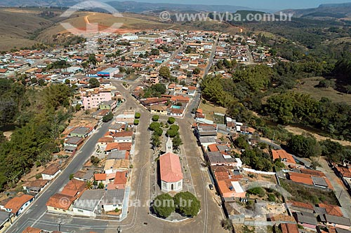 Foto feita com drone da cidade de Vargem Bonita  - Vargem Bonita - Minas Gerais (MG) - Brasil