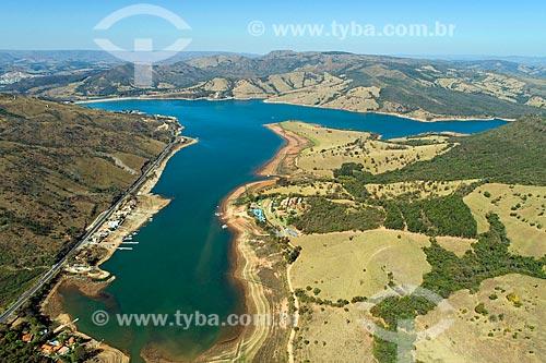 Foto feita com drone da Represa de Furnas  - Capitólio - Minas Gerais (MG) - Brasil