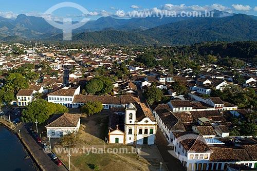 Foto feita com drone da Baía de Ilha Grande no centro histórico da cidade de Paraty  - Paraty - Rio de Janeiro (RJ) - Brasil
