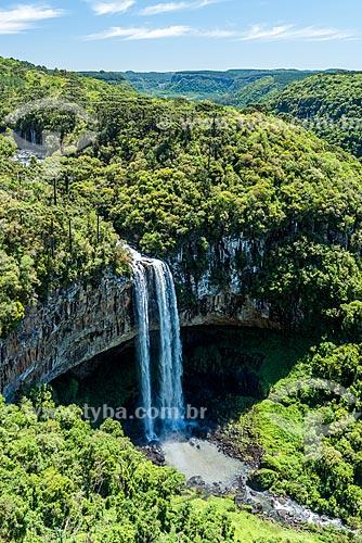 Vista da Cascata do Caracol no Parque Estadual do Caracol  - Canela - Rio Grande do Sul (RS) - Brasil