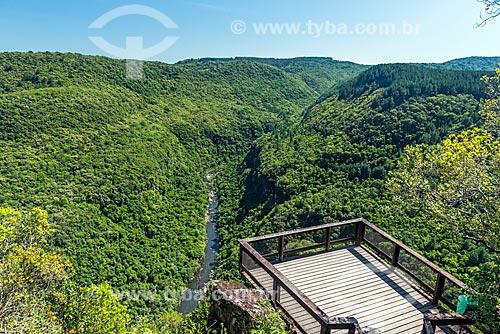 Vista do mirante do Parque da Ferradura  - Gramado - Rio Grande do Sul (RS) - Brasil