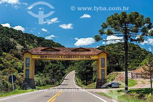 Pórtico da cidade de Cambará do Sul  - Cambará do Sul - Rio Grande do Sul (RS) - Brasil