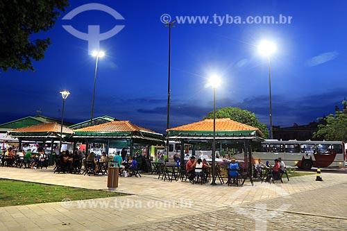 Vista de quiosques na Praça da Matriz  - Manaus - Amazonas (AM) - Brasil