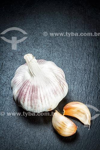 Detalhe de alho (Allium sativum)  - Brasil