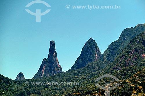 Vista dos picos do Dedo de Nossa Senhora, Dedo de Deus e Cabeça de Peixe  - Teresópolis - Rio de Janeiro (RJ) - Brasil