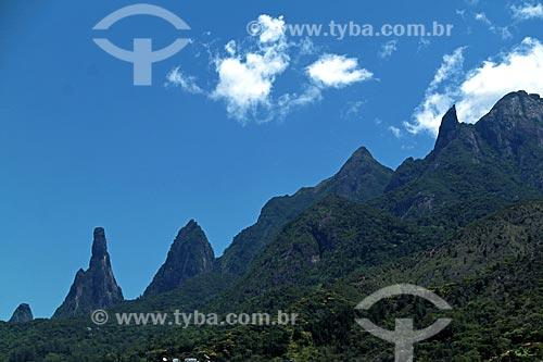 Vista dos picos do Dedo de Nossa Senhora, Dedo de Deus, Cabeça de Peixe, Santo Antônio e São João  - Teresópolis - Rio de Janeiro (RJ) - Brasil