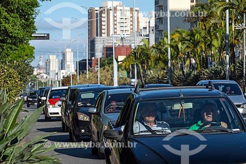 Engarrafamento na Avenida Goiás  - São Caetano do Sul - São Paulo (SP) - Brasil