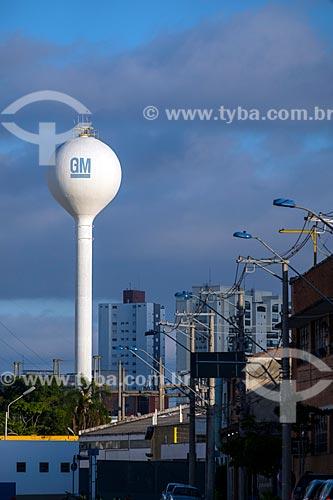 Vista da fábrica da montadora General Motors Corporation a partir da Avenida João Pessoa  - São Caetano do Sul - São Paulo (SP) - Brasil