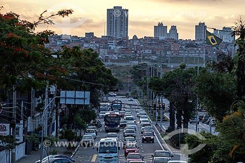Vista de trecho da Avenida Goiás com o bairro Cidade Nova Heliópolis ao fundo  - São Caetano do Sul - São Paulo (SP) - Brasil