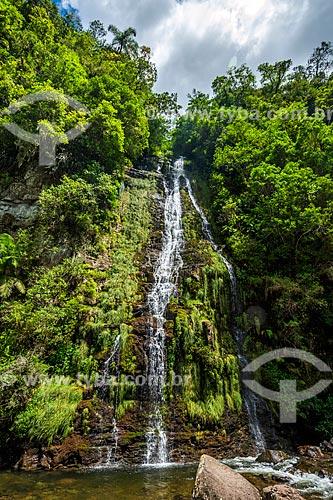 Vista da Cachoeira do Leite Moça no Parque Nacional dos Aparados da Serra  - Cambará do Sul - Rio Grande do Sul (RS) - Brasil