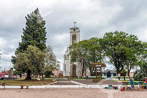 Fachada da Igreja de São José (1947)  - Cambará do Sul - Rio Grande do Sul (RS) - Brasil