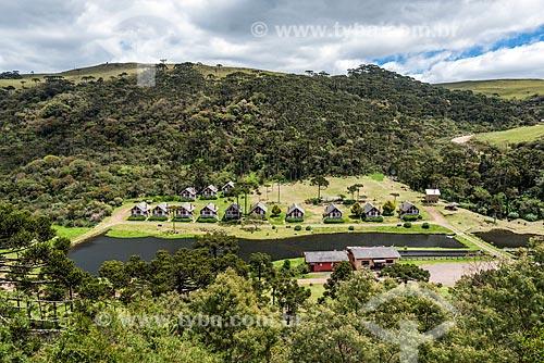 Vista geral de chalés do Sítio Vale das Trutas  - São José dos Ausentes - Rio Grande do Sul (RS) - Brasil