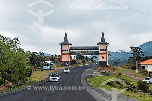 Pórtico da cidade de Bom Jardim da Serra  - Bom Jardim da Serra - Santa Catarina (SC) - Brasil