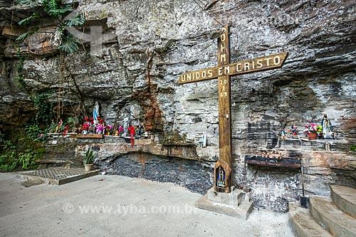 Vista da Gruta de Nossa Senhora de Lourdes   - Urubici - Santa Catarina (SC) - Brasil