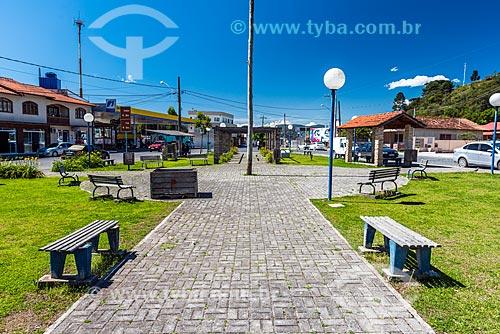 Praça na cidade de Urubici  - Urubici - Santa Catarina (SC) - Brasil