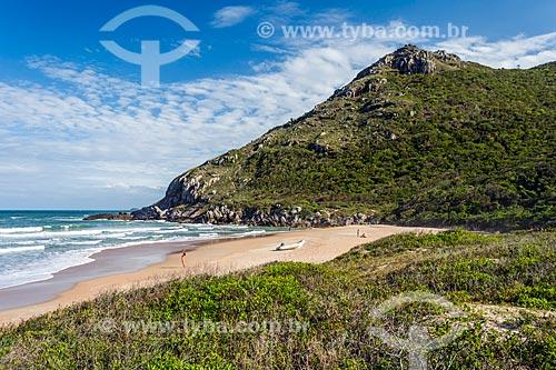 Orla da Praia da Lagoinha do Leste no Parque Municipal da Lagoinha do Leste  - Florianópolis - Santa Catarina (SC) - Brasil