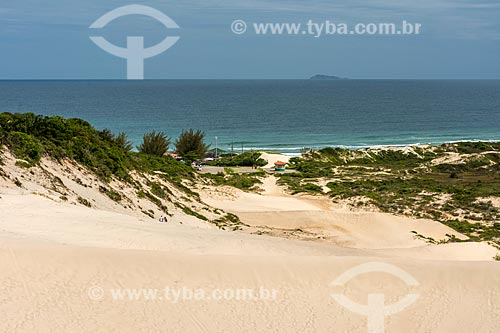 Dunas na Praia da Joaquina  - Florianópolis - Santa Catarina (SC) - Brasil