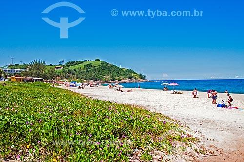 Vista da orla da Praia de Ponta Negra  - Maricá - Rio de Janeiro (RJ) - Brasil