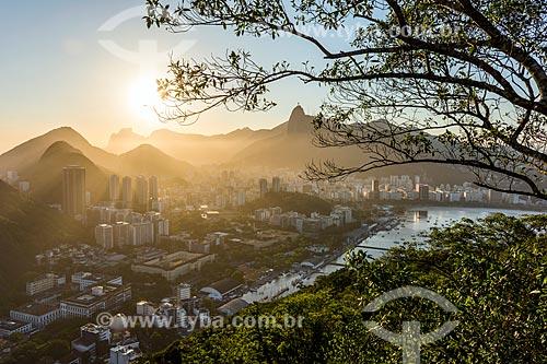 Vista dos bairros da Urca e Botafogo a partir do Morro da Urca  - Rio de Janeiro - Rio de Janeiro (RJ) - Brasil
