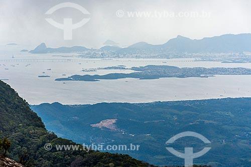 Vista da Ilha do Governador durante a Travessia Cobiçado x Ventania no Parque Nacional da Serra dos Órgãos  - Petrópolis - Rio de Janeiro (RJ) - Brasil