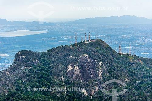 Vista do Torres do Morin durante a Travessia Cobiçado x Ventania no Parque Nacional da Serra dos Órgãos  - Petrópolis - Rio de Janeiro (RJ) - Brasil