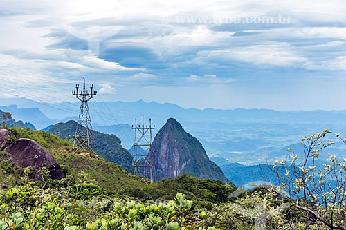 Vista do Morro do Tridente durante a Travessia Cobiçado x Ventania no Parque Nacional da Serra dos Órgãos  - Petrópolis - Rio de Janeiro (RJ) - Brasil