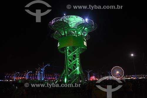 Torre da tirolesa no Rock in Rio 2017 no Parque Olímpico Rio 2016  - Rio de Janeiro - Rio de Janeiro (RJ) - Brasil