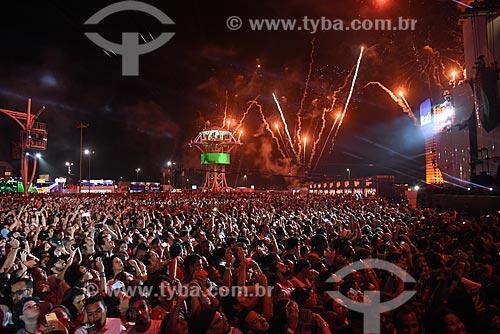 Queima de fogos no Rock in Rio 2017 no Parque Olímpico Rio 2016  - Rio de Janeiro - Rio de Janeiro (RJ) - Brasil
