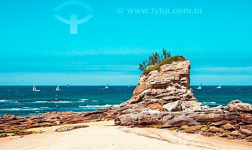 Vista da orla da Playa del Camello (Praia do Camelo)  - Santander - Província de Cantábria - Espanha