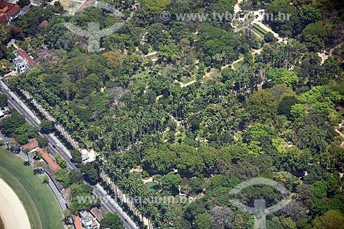 Foto aérea do Jardim Botânico do Rio de Janeiro  - Rio de Janeiro - Rio de Janeiro (RJ) - Brasil