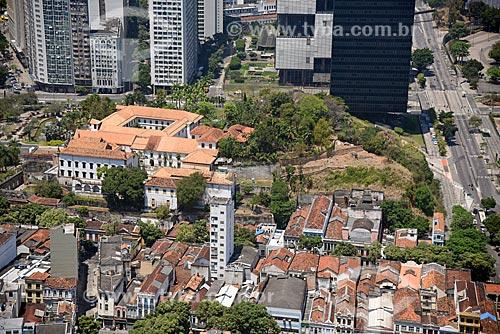 Foto aérea da Igreja e Convento de Santo Antônio do Rio de Janeiro (1615)  - Rio de Janeiro - Rio de Janeiro (RJ) - Brasil