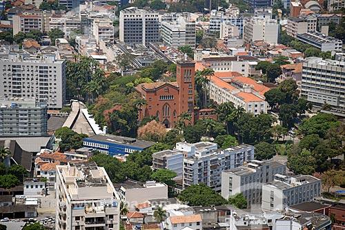 Foto aérea do Santuário de Nossa Senhora da Conceição da Medalha Milagrosa (1955)  - Rio de Janeiro - Rio de Janeiro (RJ) - Brasil