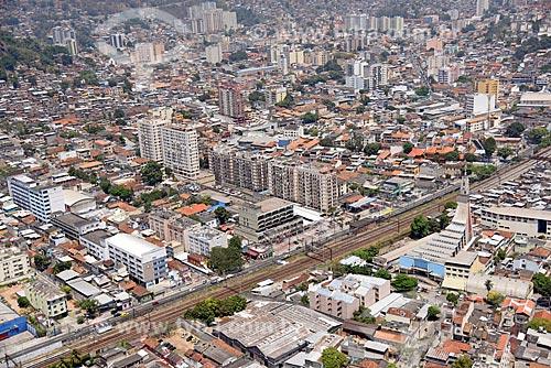 Foto aérea do bairro de Engenho Novo com a Igreja Nossa Senhora da Imaculada Conceição  - Rio de Janeiro - Rio de Janeiro (RJ) - Brasil